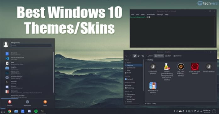 20 Best Windows 10 Themes/Skins in 2020 [Latest Themes]