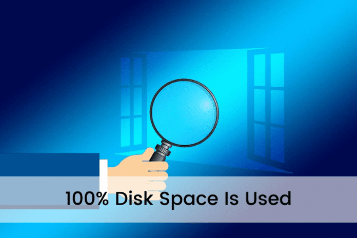 100% Disk Space Is Used