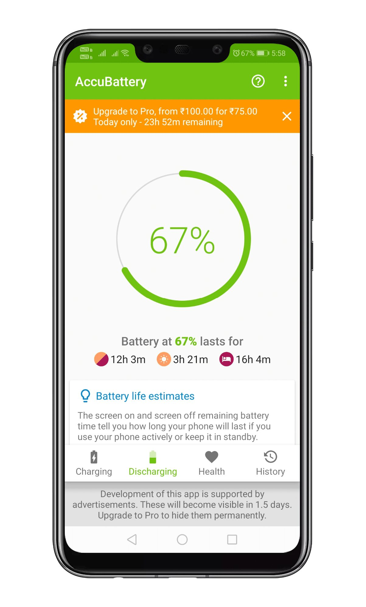 Battery Discharge Information