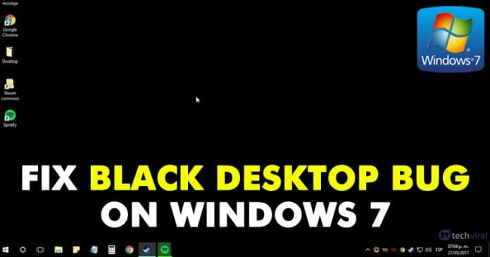 How To Fix Black Desktop Bug On Windows 7 Computer