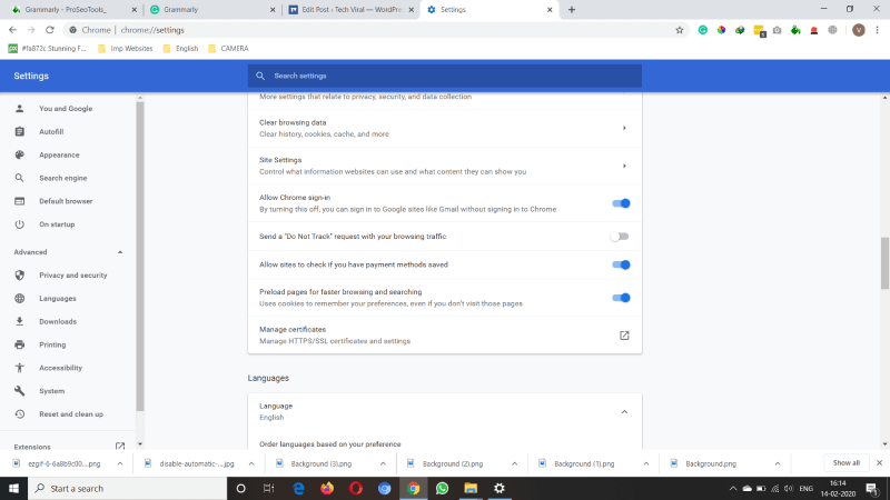 Change Settings in Google Chrome and Skype