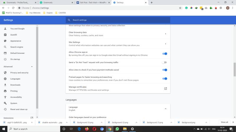 Change Settings in Google Chrome and Skype
