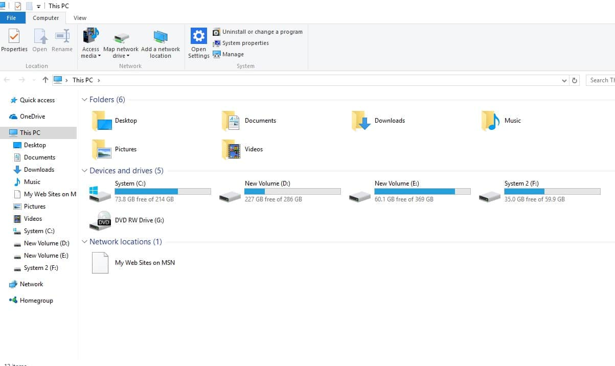 Open File Explorer on your computer