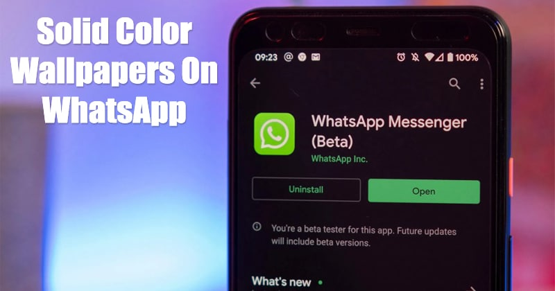 How To Use New Solid Color Wallpapers On WhatsApp Dark Mode