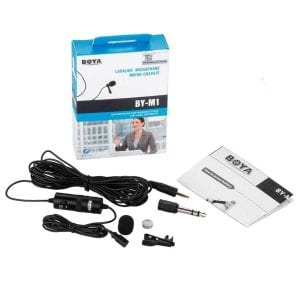 Boya BYM1 Omnidirectional Lavalier Condenser Microphone