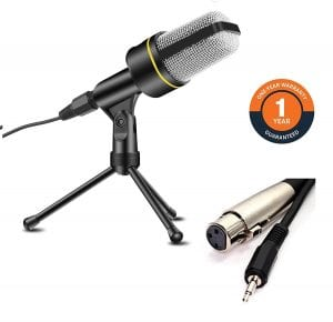 COM-TECH Vocal Plug and Play Home Studio Condenser Microphone
