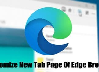 How To Customize the New Tab Page Of Edge Browser
