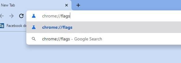 Enter chrome://flags