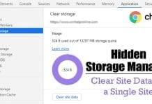 How To Clear Storage & Site Data for a Single Site on Chrome