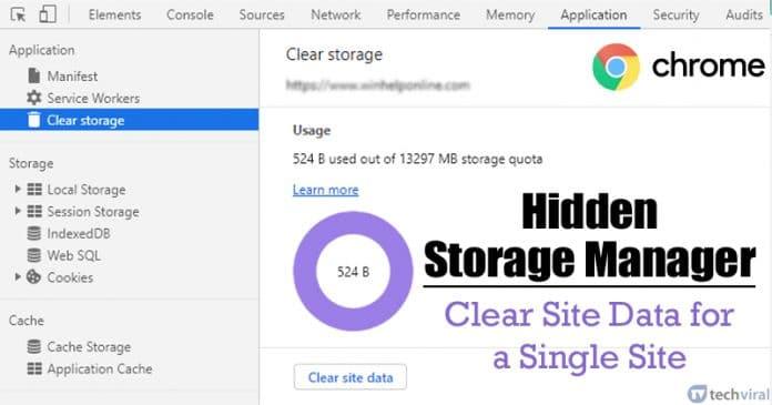 كيفية مسح التخزين وبيانات الموقع لموقع واحد على Chrome