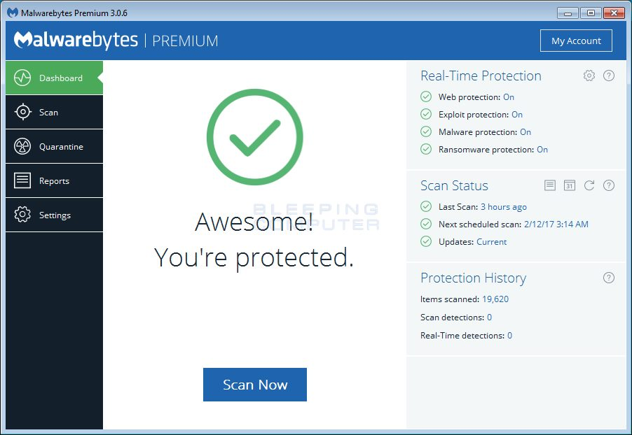 Use Malwarebytes