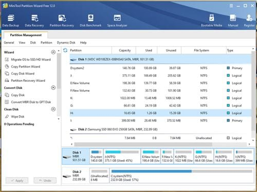MiniTool Partition Wizard Free 1