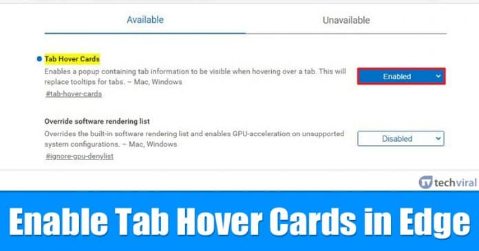 How To Enable Tab Hover Cards in Microsoft Edge