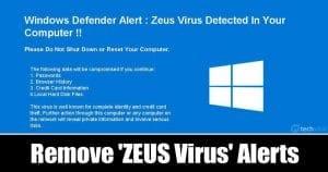 How To Remove 'Windows Detected ZEUS Virus' Alerts