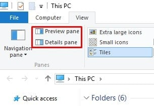 Disable 'Preview Pane' and 'Details Pane'