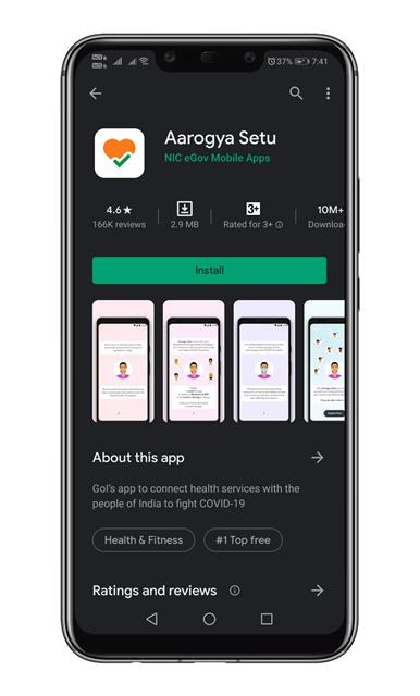 install the Aarogya Setu app