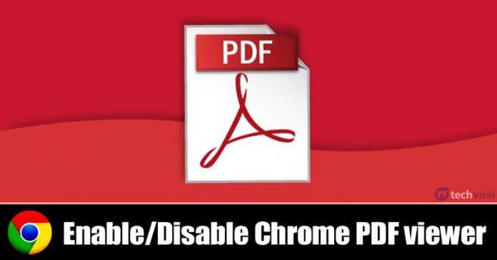 كيفية تمكين / تعطيل عارض PDF كروم