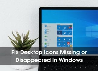 Fix Desktop Icons Missing or Disappeared