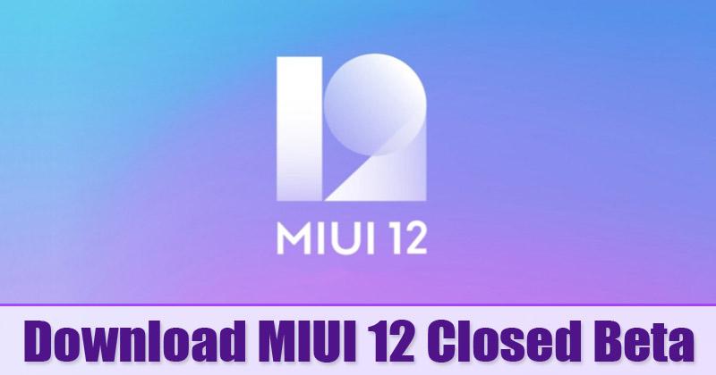 MIUI 12 Closed Beta Build