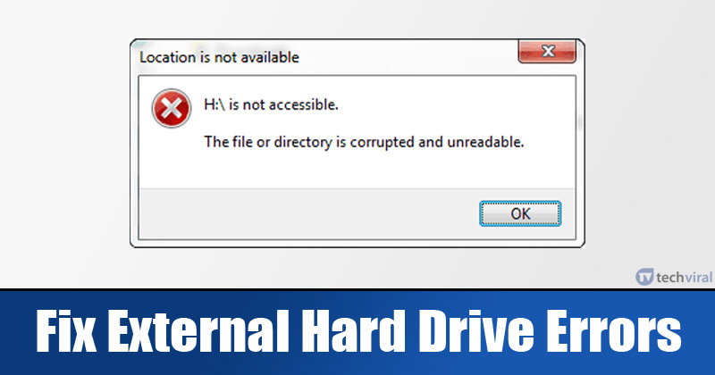 Here's how you can fix external hard drive errors on Windows!