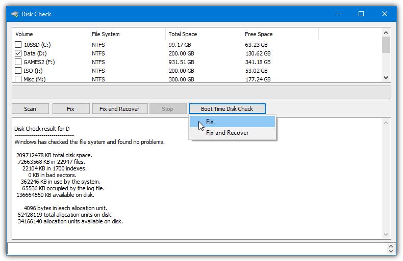 Puran Disk Check