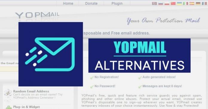 10 أفضل بدائل YOPMail في 2020 (رسائل البريد الإلكتروني المؤقتة)