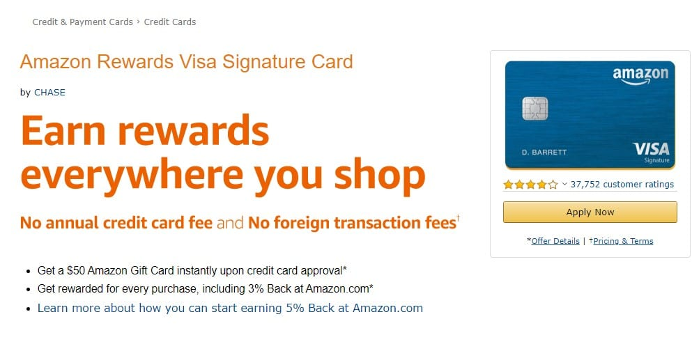 Prime Rewards visa credit card