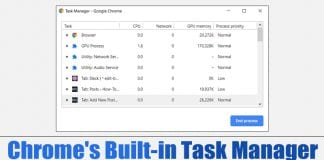 Use Google Chrome's Built-in Task Manager