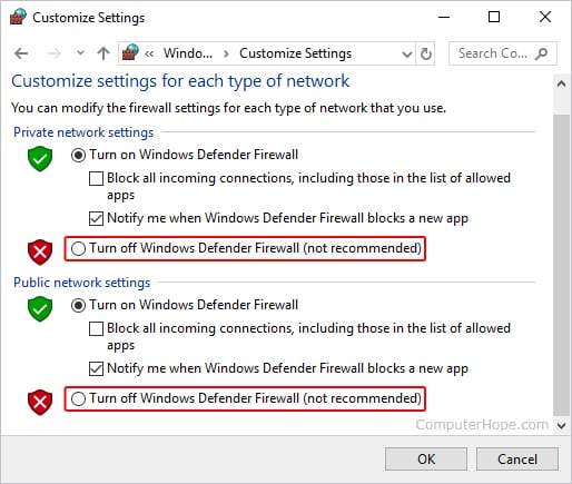 Disable Antivirus/Firewall