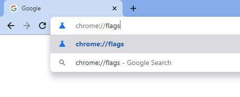 Open Chrome://flags page