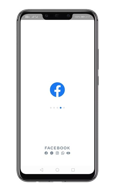 login with your Facebook account