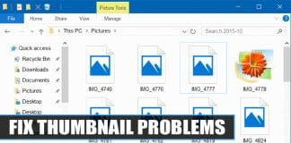Fix Thumbnail Problems on Windows 10 Computer