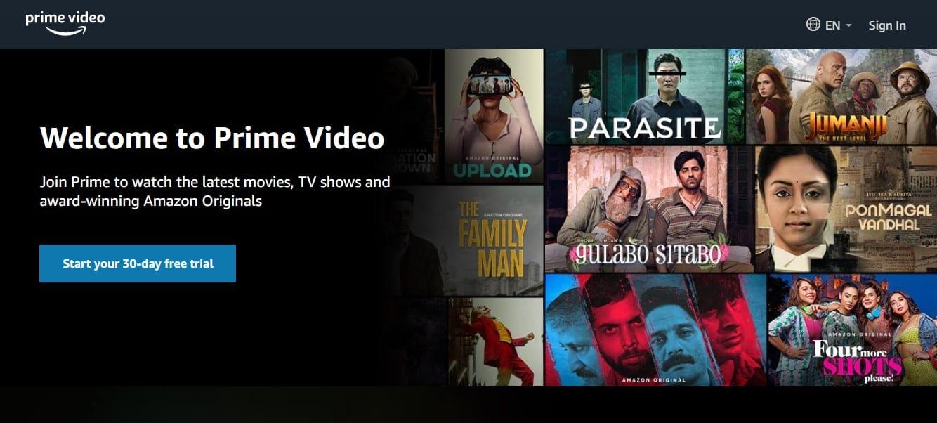 Amazon Prime 30 day trial