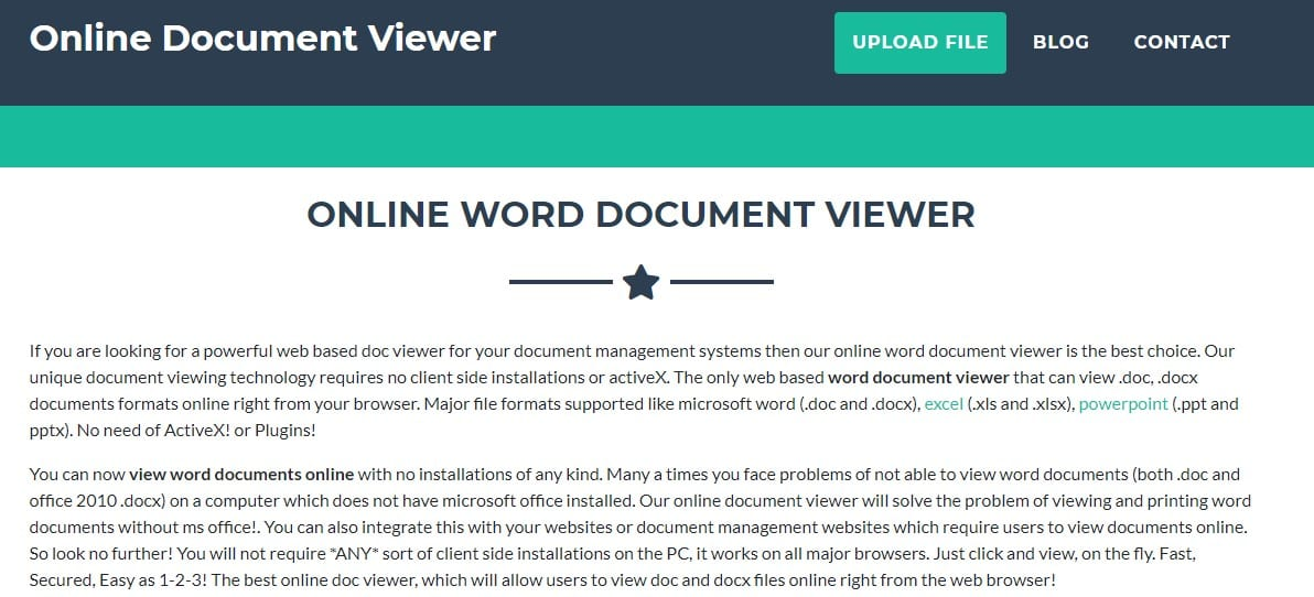 Visit Online Document Viewer
