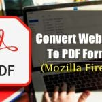 How to Save a Web Page as a PDF in Firefox Browser