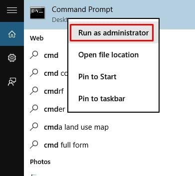 Select 'Run as administrator'