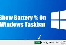 How To Show Battery Percentage on Windows 10 Taskbar
