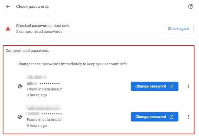 Compromised Passwords