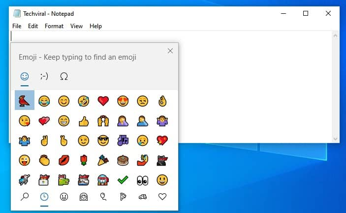Hidden Emoji picker