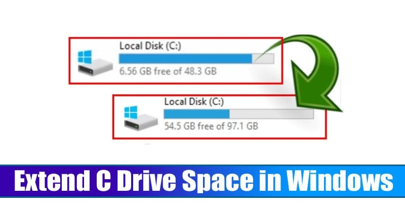 How To Extend C Drive Space (System Partition) in Windows 10