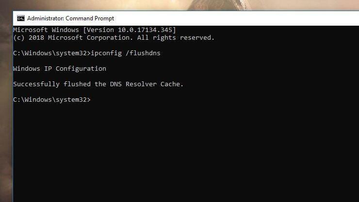 Clear the DNS Cache