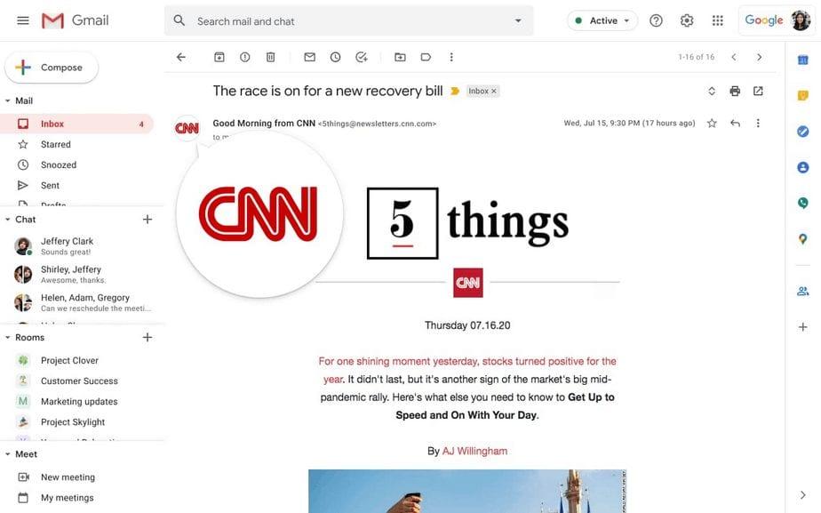 Gmail to get verified logos