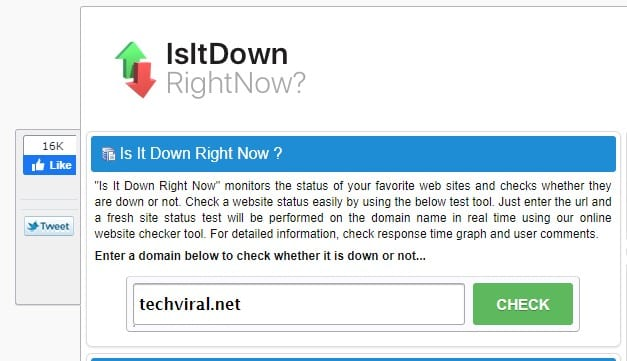IsitDownRightNow