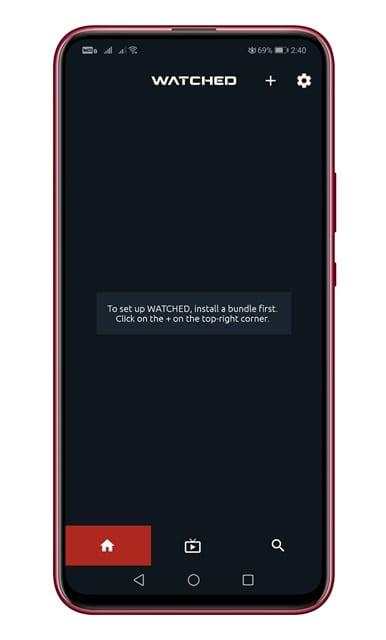 launch the app