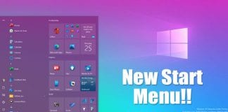 Activate the New Start Menu of Windows 10