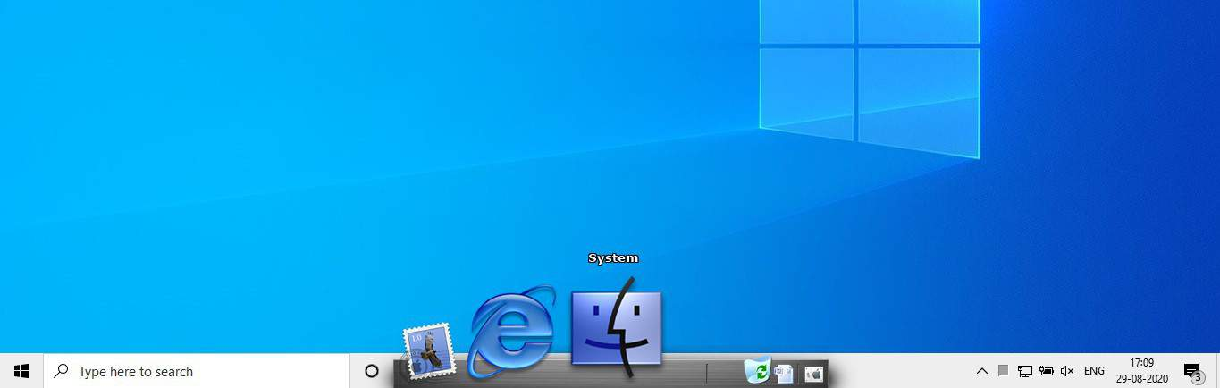 New dock at the bottom of the screen