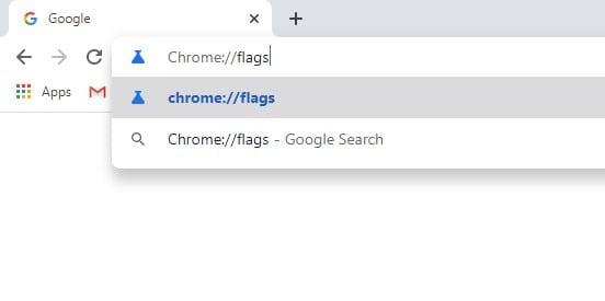 Enter the URL chrome://flags