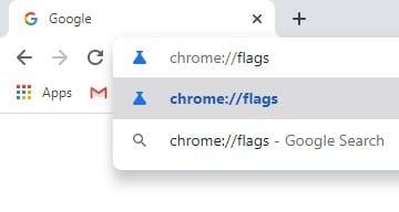 Open 'chrome://flags'