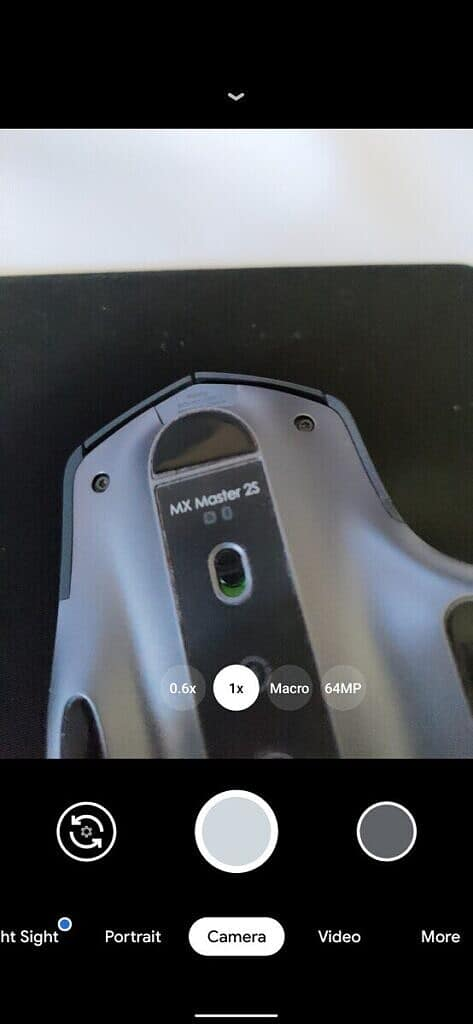 Auxiliary camera buttons on the viewfinder