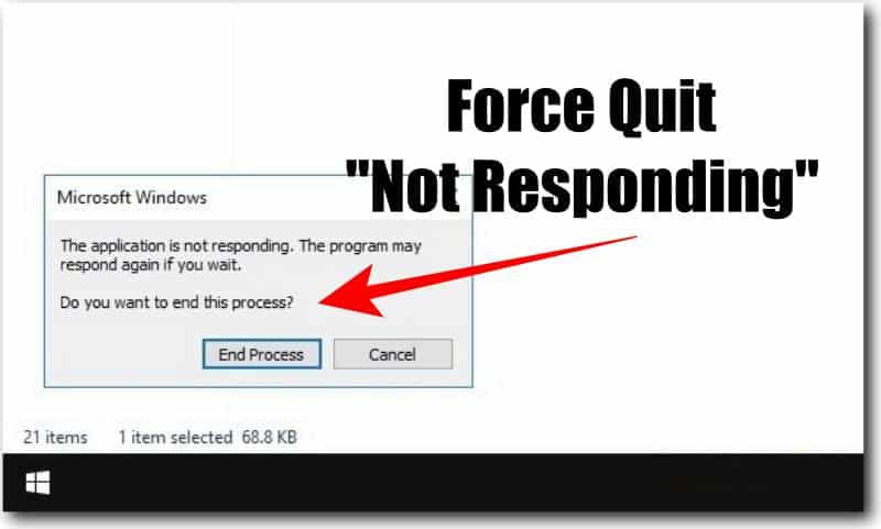 Force Quit Not Responding Windows